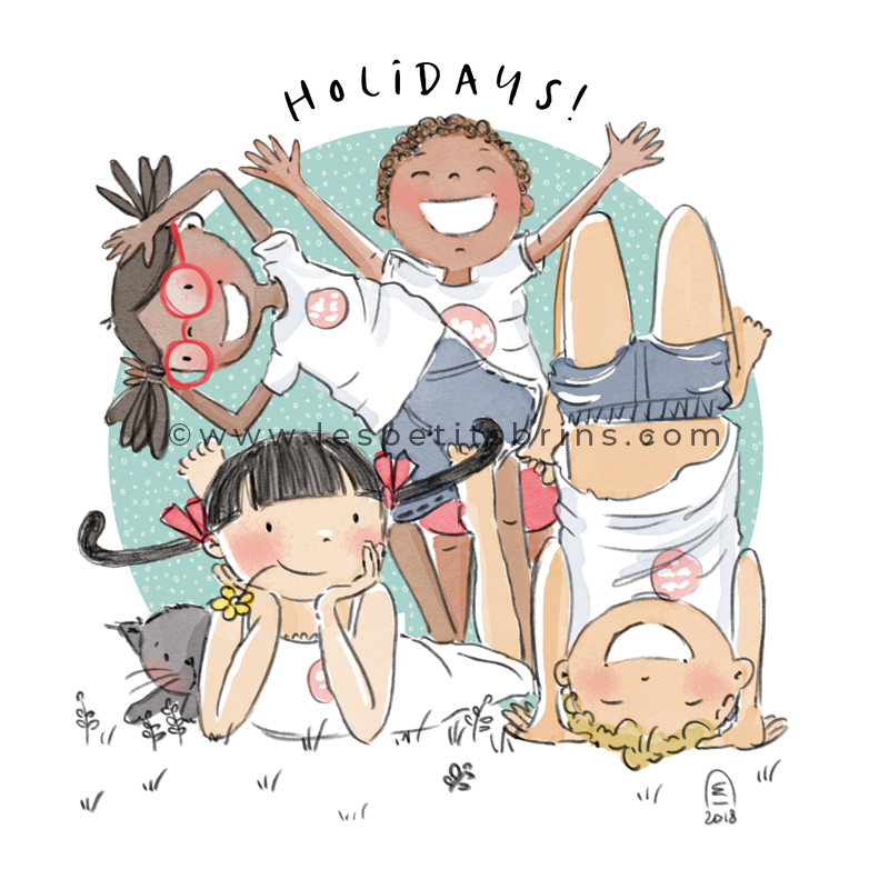 Illustration jeunesse Brins in holidays