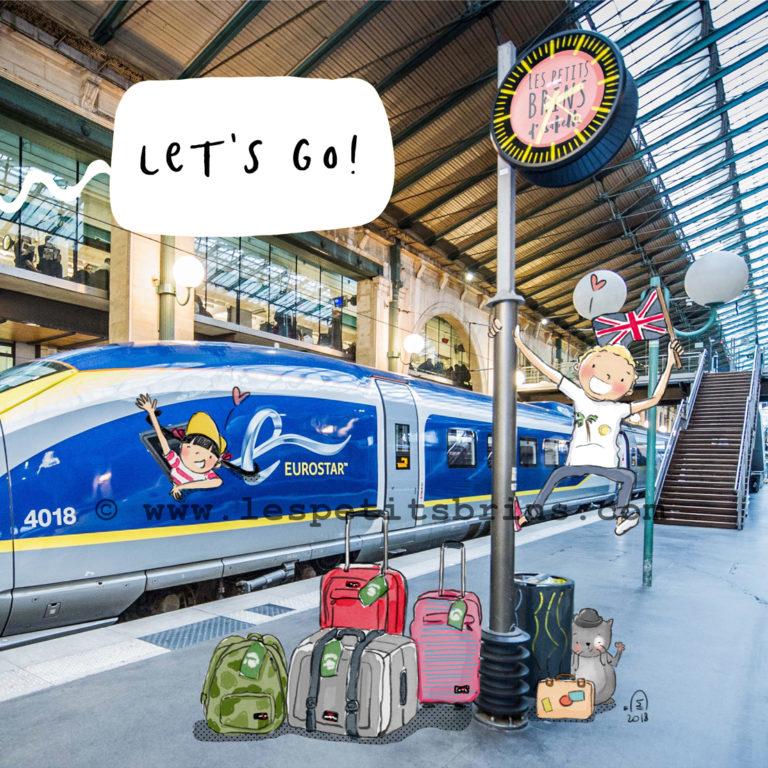 Illustration jeunesse Eurostar Let's go séjours linguistiques