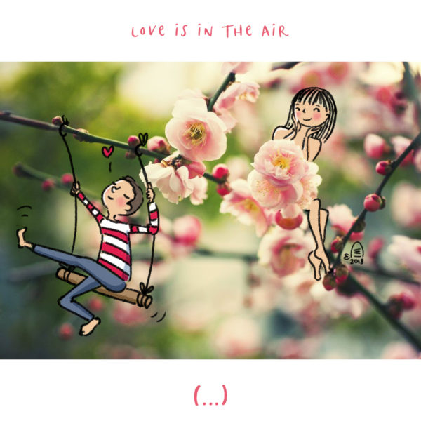 Illustration jeunesse Love is in the air - Isabelle Monnerot-Dumaine