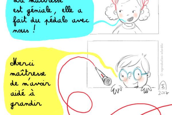 Illustration jeunesse merci maîtresse