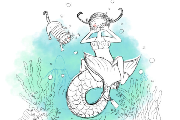 Illustration jeunesse Mermay challenge