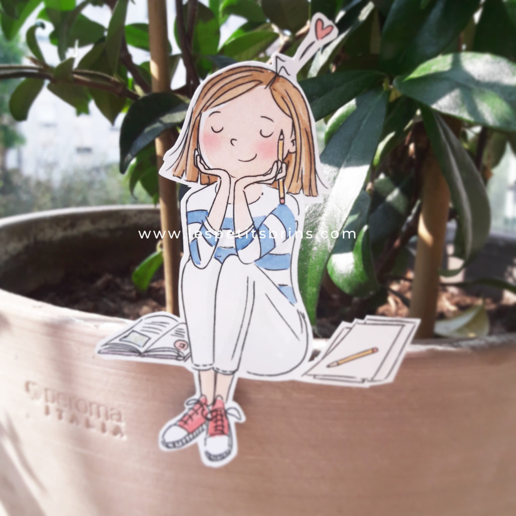 Illustration jeunesse savourer méditer