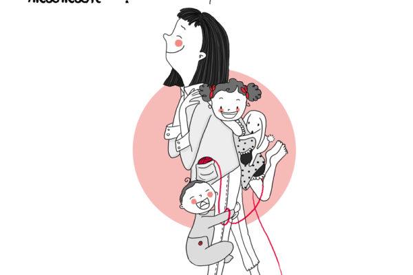 Portrait de famille maman enfants