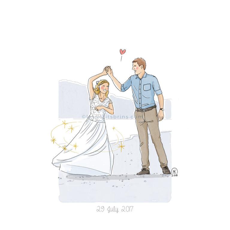 Illustration faire-part de mariage personnalisé sur mesure