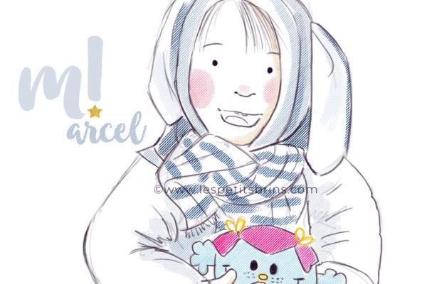 Illustration l'EXTRAordinaire Marcel portrait enfant