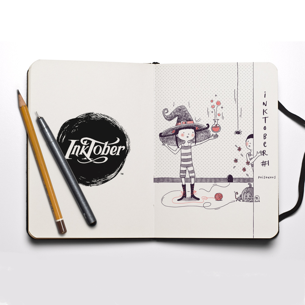 Inktober 2018 illustration challenge