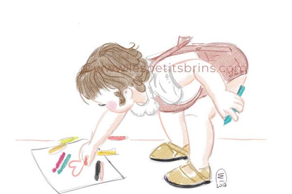 Portrait enfant illustré personnalisé