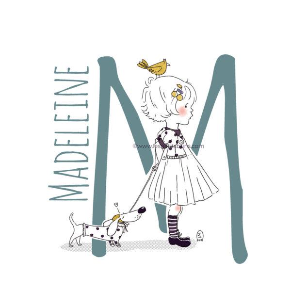 abecedaire-initiale-prenom-enfant-illustration-fille-personnalisation-vert-eucalyptus-M