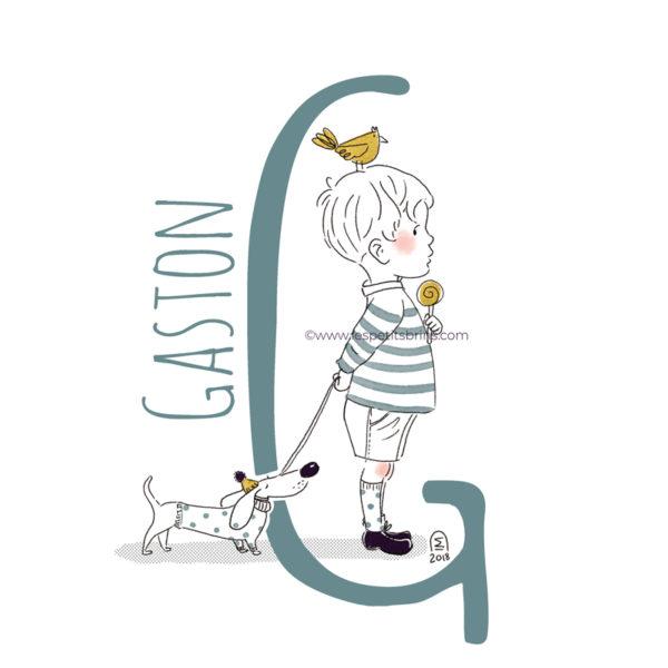 abecedaire-initiale-prenom-enfant-illustration-garcon-personnalisation-vert-eucalyptus