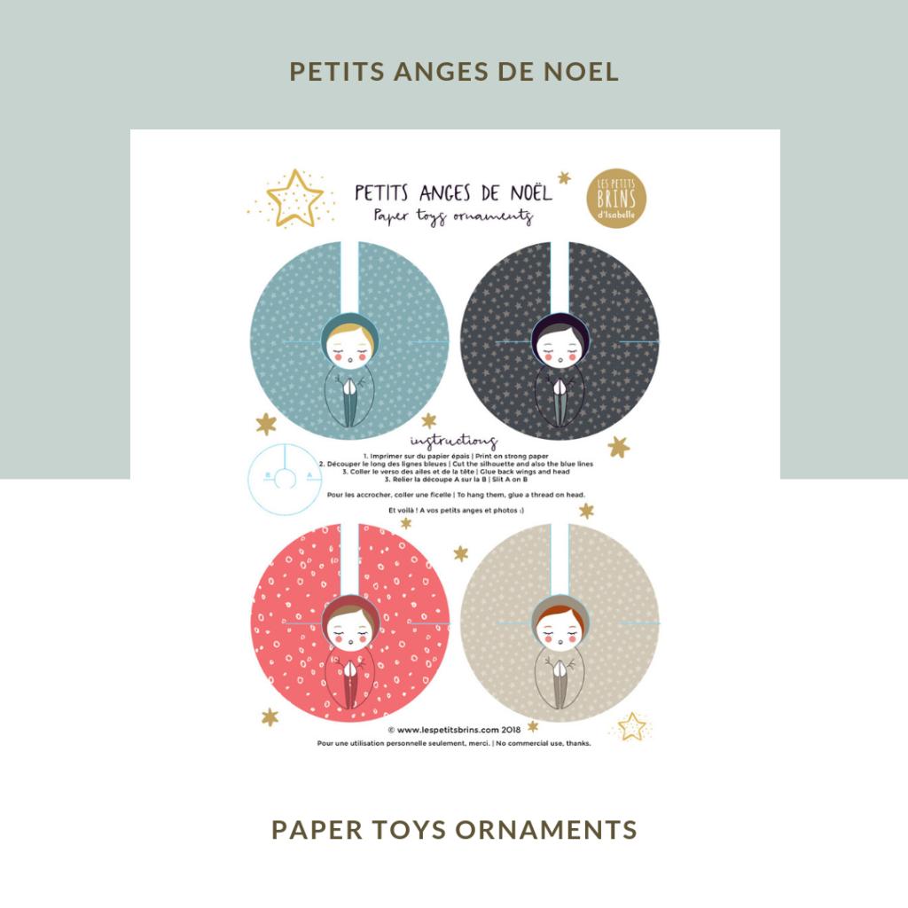 Petits Anges De Noël à Découper Et Colorier Diy Les Petits