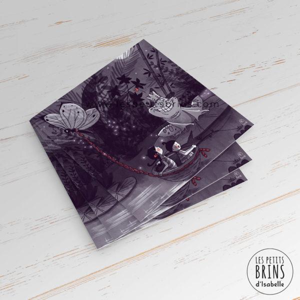Carte postale illustrée originale Poucette Thumbelina d'après Andersen