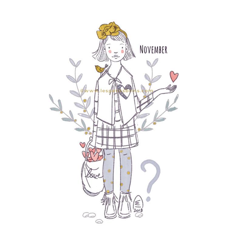 illustration jeunesse novembre november