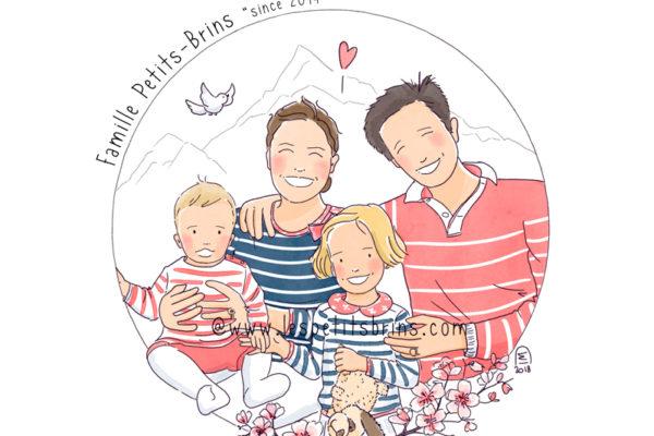 Portrait de famille illustré