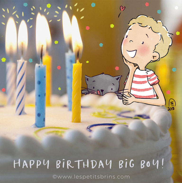 Illustration originale happy birthday - Joyeux anniversaire