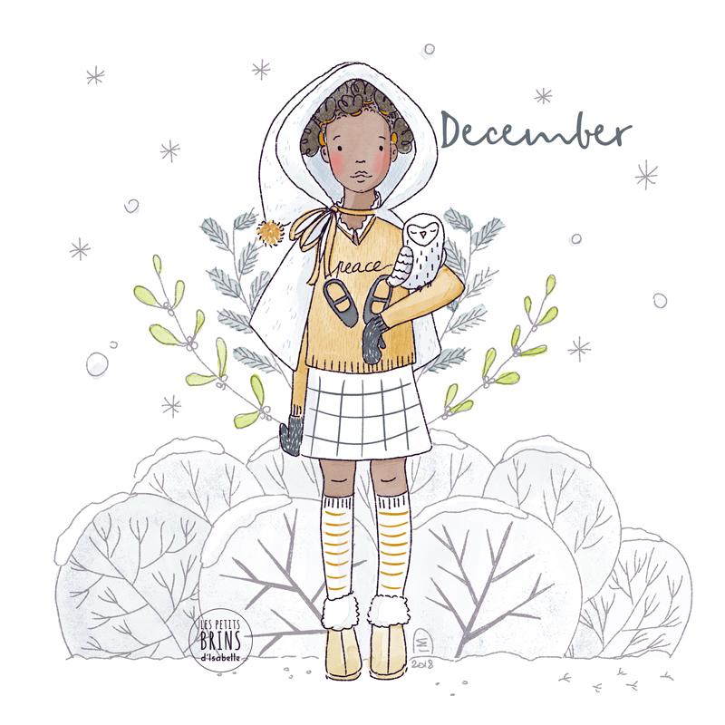 Illustration originale december