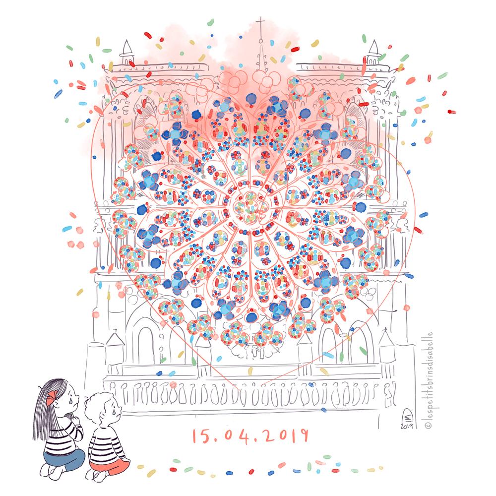 Illustration Notre-Dame de Paris - 15.04.2019