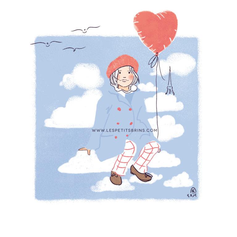 Illustration jeunesse - Prendre de la hauteur - Nuage et technique du fadeawaya