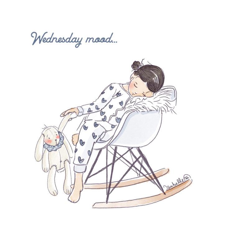 Illustration portrait d'enfant personnalisé - Rocking Chair
